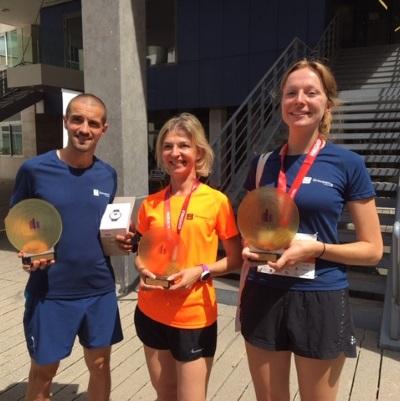 Les Foulées de l'immobilier : a great team… and three trophies